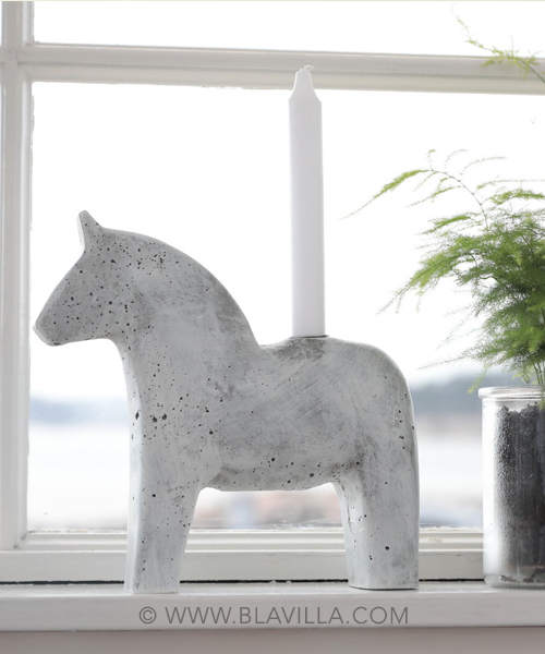 blåvilla betoni hevonen kynttilänjalka