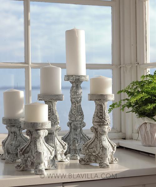 Rococoo kynttilänjalka betonista